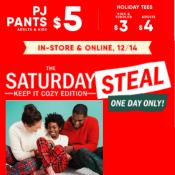 TODAY ONLY! Old Navy: Men's & Women's Pajama Pants + Kids' Micro Fleece...