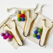 Jane: Wooden Slingshot + Felt Ball Ammo Set $11.99 (Reg. $24.99) + Free...