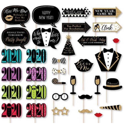 Amazon: 2020 New Years Eve Party Supplies and Photo Booth ...