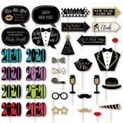 Amazon: 2020 New Years Eve Party Supplies and Photo Booth Props Kit $14.99...