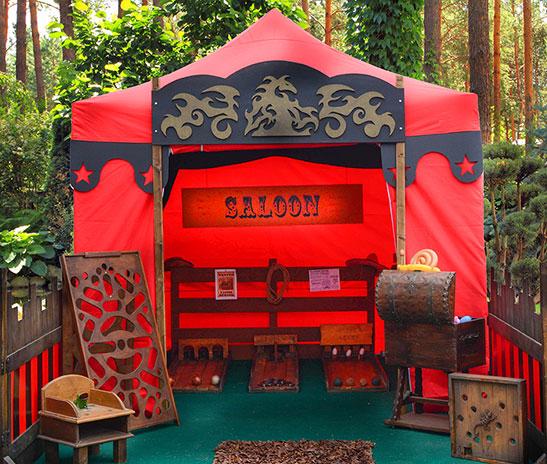Tente jeux en bois villages