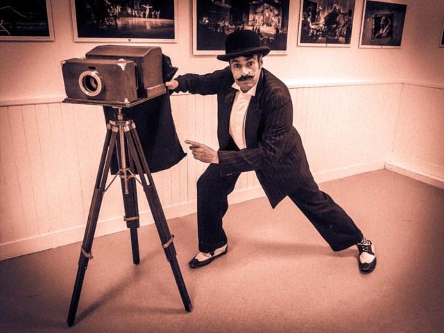 Photographe vintage polaroid