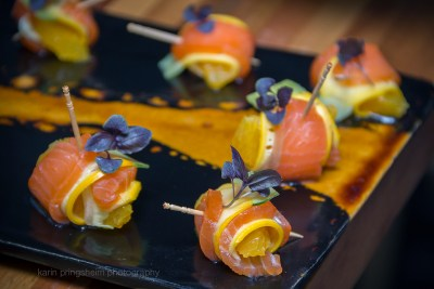Cured Salmon canape