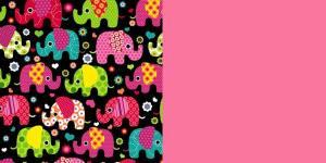 Elephants-Pink