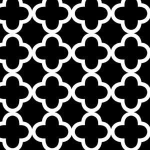 Quatrefoil Black