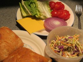 Tuna Burgers and steamed slaw (6)