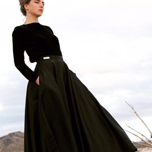 Full Circular Skirt – Black