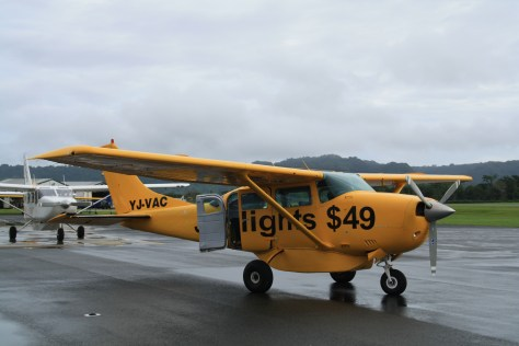 Cessna Plane to Lonorore Airport Pentecost Island