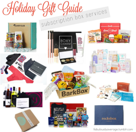 Holiday Gift Guide | Subscription Box Services