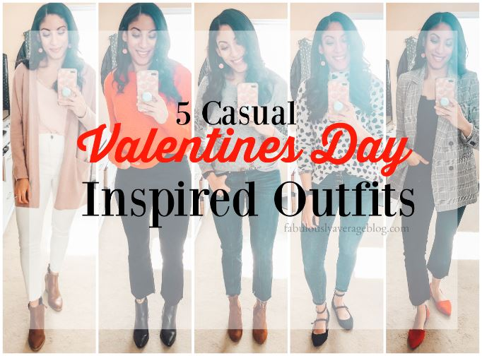 5 (Casual) Valentine's Day Inspired Outfit Ideas