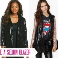 How to Style a Sequin Blazer
