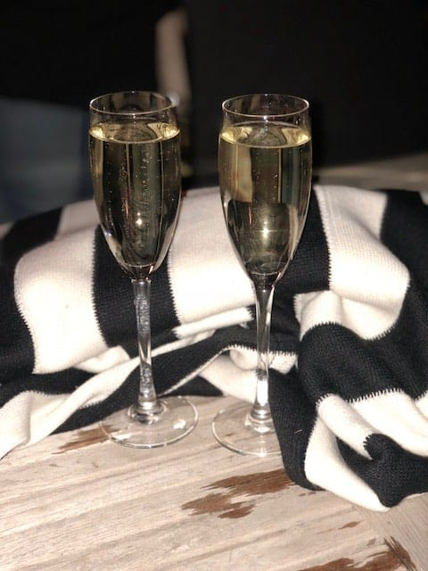 Prosecco and blankets