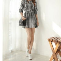 Petite Checkered Dress