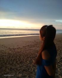 Enjoying sunset on the beach