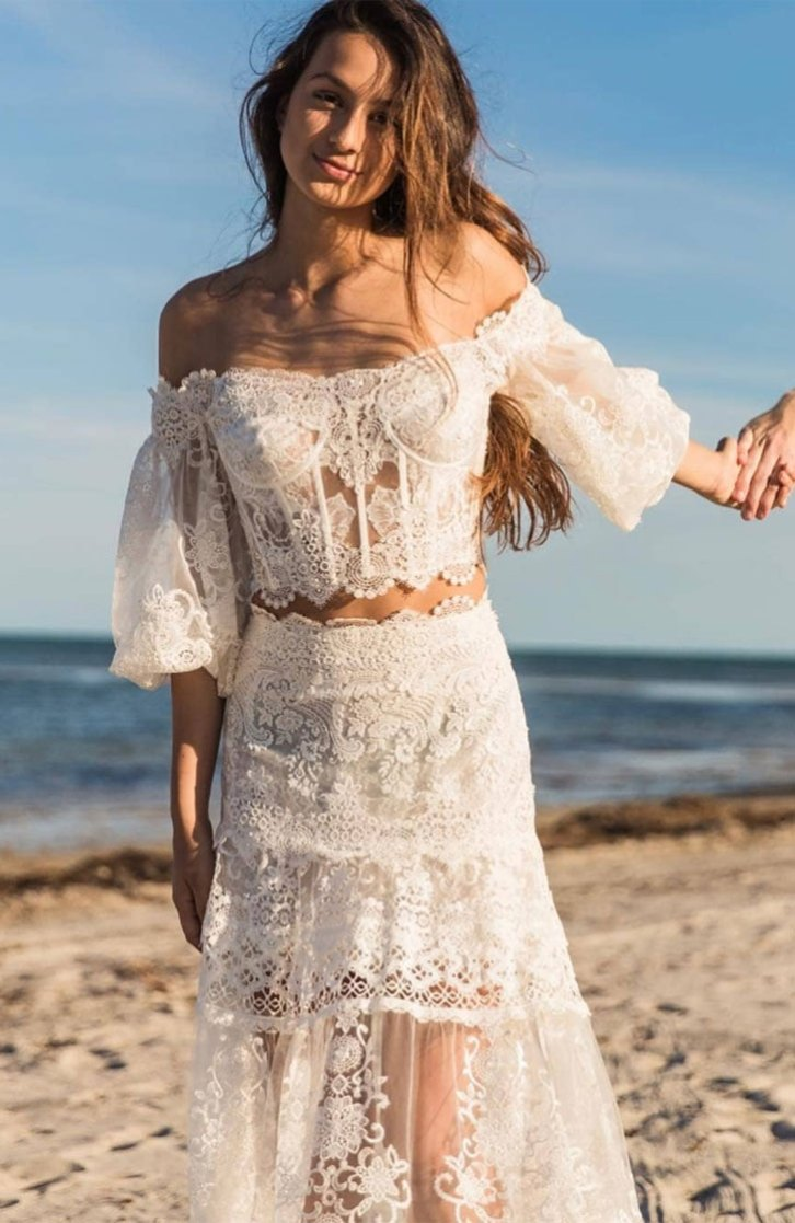 Beach Wedding Dresses Perfect For A Destination Wedding, simple wedding dress ,thin straps wedding gown #weddingdress #weddinggown
