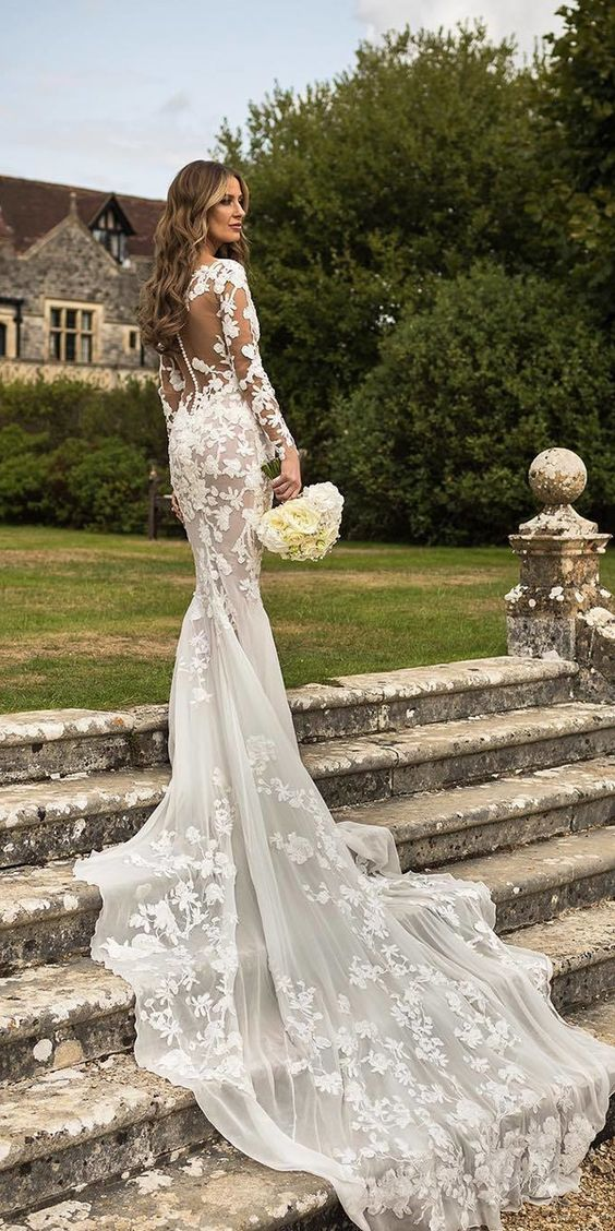 53 elegant lace long sleeve wedding dresses, lace wedding dress with sleeves, lace wedding dresses with sleeves, long sleeve lace wedding dress