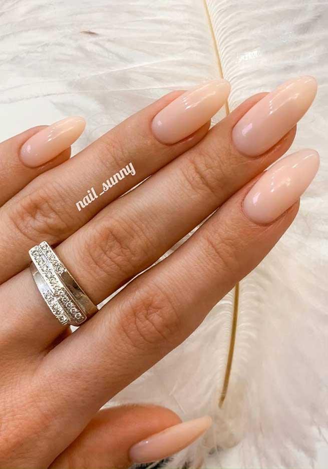 wedding nails , wedding nail art designs, neutral wedding nails, simple wedding nails, elegant wedding nail designs