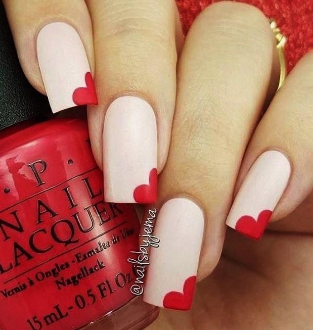 best nail art ideas for Valentine's day 2020 - 14, valentine nails 2020, valentines day nails 2020, valentine's day acrylic nails, valentine gel nails, valentines day nails 2020, nail designs, heart nail art , pink nail art, pink nail colors, simple heart nail designs, easy heart nail art, heart nail designs for short nails, heart tip nails, heart toe nail designs, pink nails with red hearts