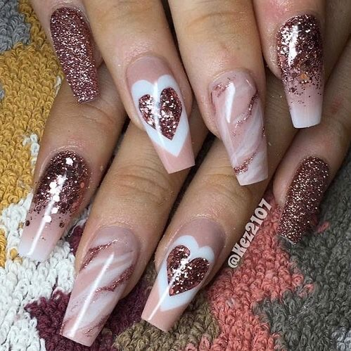 best nail art ideas for Valentine's day 2020 - 20, valentine nails 2020, valentines day nails 2020, valentine's day acrylic nails, valentine gel nails, valentines day nails 2020, nail designs, heart nail art , pink nail art, pink nail colors, simple heart nail designs, easy heart nail art, heart nail designs for short nails, heart tip nails, heart toe nail designs, pink nails with red hearts