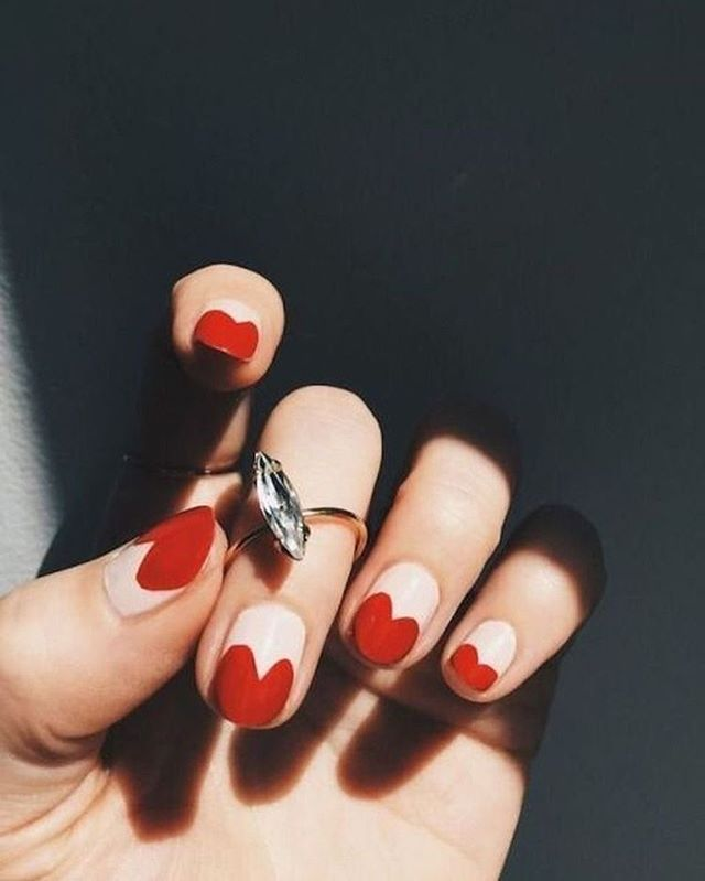 best nail art ideas for Valentine's day 2020 - 7, valentine nails 2020, valentines day nails 2020, valentine's day acrylic nails, valentine gel nails, valentines day nails 2020, nail designs, heart nail art , pink nail art, pink nail colors, simple heart nail designs, easy heart nail art, heart nail designs for short nails, heart tip nails,  heart toe nail designs, pink nails with red hearts