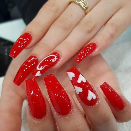 best nail art ideas for Valentine's day 2020 - 38, valentine nails 2020, valentines day nails 2020, valentine's day acrylic nails, valentine gel nails, valentines day nails 2020, nail designs, heart nail art , pink nail art, pink nail colors, simple heart nail designs, easy heart nail art, heart nail designs for short nails, heart tip nails, heart toe nail designs, pink nails with red hearts