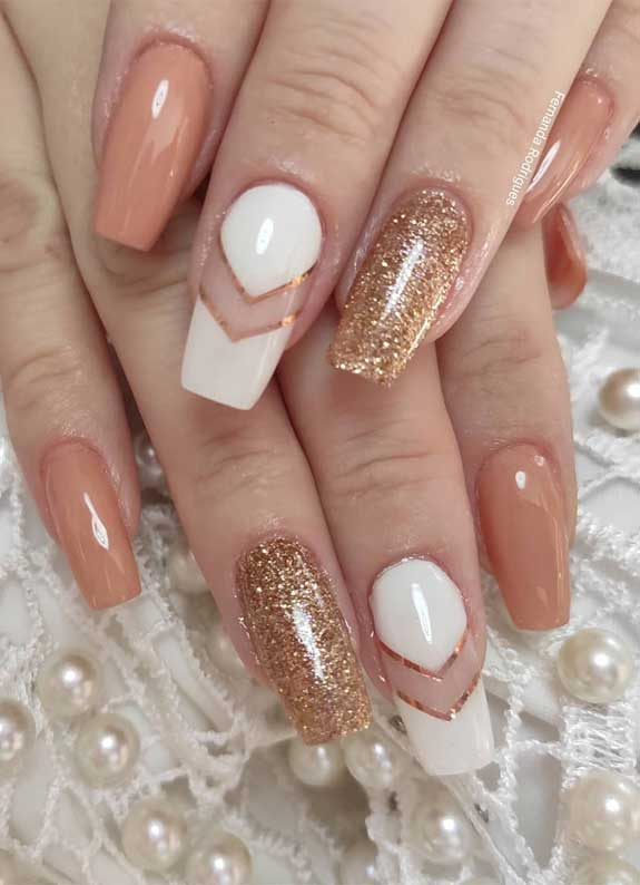 100 spring nail art ideas 2020, best spring nails 2020, mismatched nail art designs, spring nail art designs, nail art designs #nailart #springnails rose gold nails
