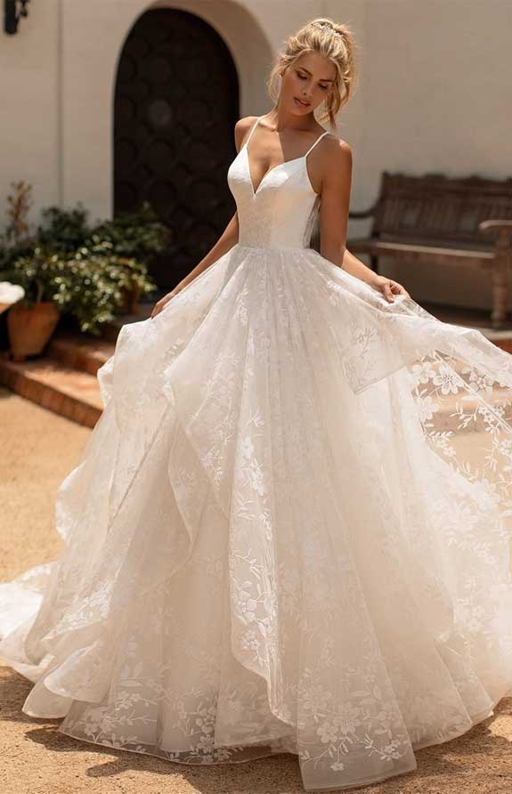 simple ball gown wedding dress, simple wedding dress, wedding dress with pockets, simple ball gown, wedding dress , wedding dresses with pockets #weddingdress sleeveless wedding dress, layered skirt wedding dress