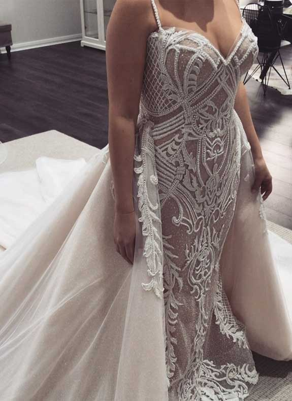 100 the most incredible wedding dresses, wedding dress, wedding dress with detachable skirt , sleeveless wedding dress