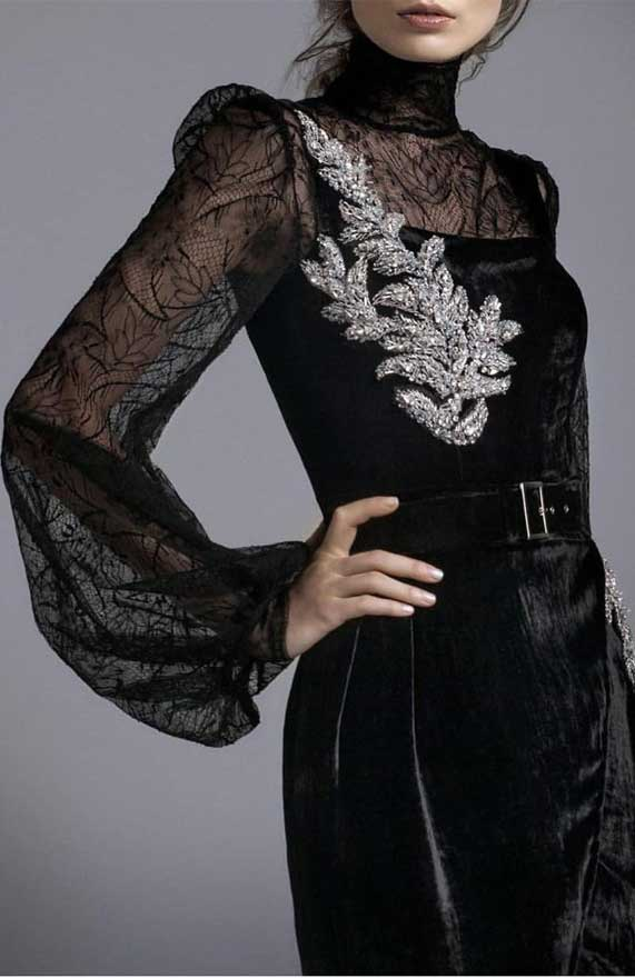 41 Stunning black dresses that you should have in your closet - 15, black dresses formal, black dress elegant, smart black dress, black dress with sleeves, elegant black dress, smart black dress for work