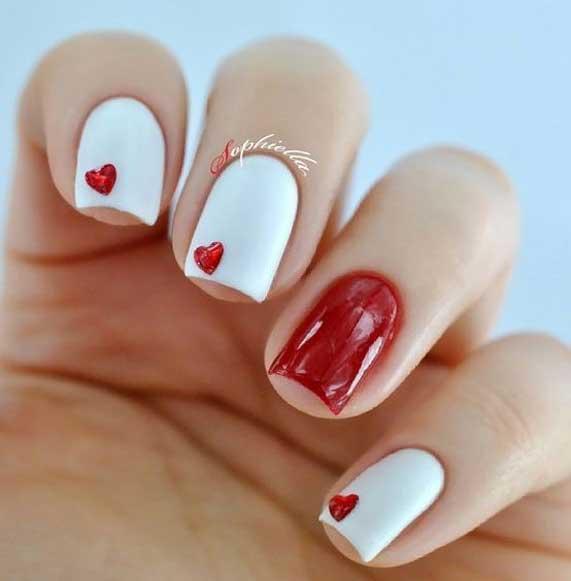 best nail art ideas for Valentine 2020 - 41, valentine nails 2020, valentines day nails 2020, valentine's day acrylic nails, valentine gel nails, valentines day nails 2020, nail designs, heart nail art , pink nail art, pink nail colors, simple heart nail designs, easy heart nail art, heart nail designs for short nails, heart tip nails, heart toe nail designs, pink nails with red hearts