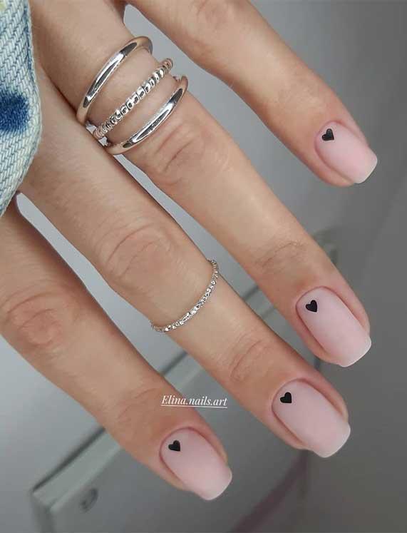 best nail art ideas for Valentine 2020 - 43, valentine nails 2020, valentines day nails 2020, valentine's day acrylic nails, valentine gel nails, valentines day nails 2020, nail designs, heart nail art , pink nail art, pink nail colors, simple heart nail designs, easy heart nail art, heart nail designs for short nails, heart tip nails, heart toe nail designs, pink nails with red hearts