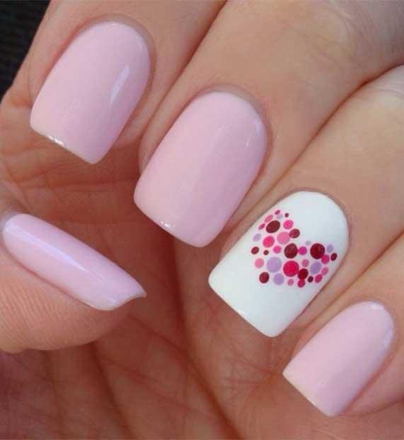 best nail art ideas for Valentine 2020 - 40, valentine nails 2020, valentines day nails 2020, valentine's day acrylic nails, valentine gel nails, valentines day nails 2020, nail designs, heart nail art , pink nail art, pink nail colors, simple heart nail designs, easy heart nail art, heart nail designs for short nails, heart tip nails, heart toe nail designs, pink nails with red hearts