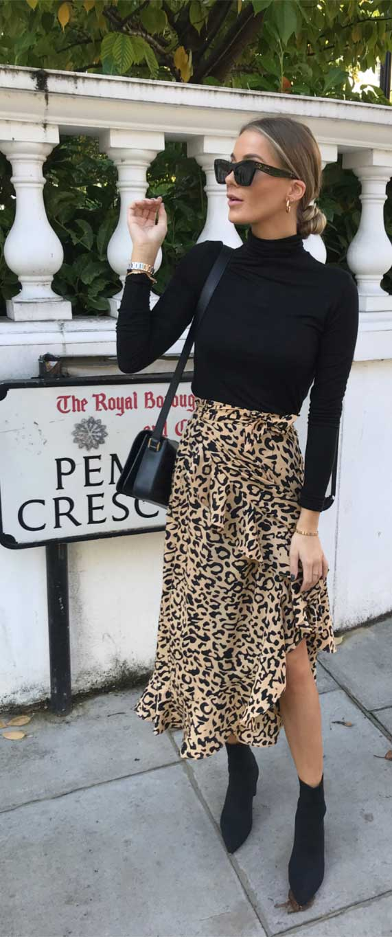 midi skirt, best spring outfit 2020, knit jumper spring 2020, what to wear in spring, spring fashion 2020 , leopard midi skirt outfits, best spring wear 2020