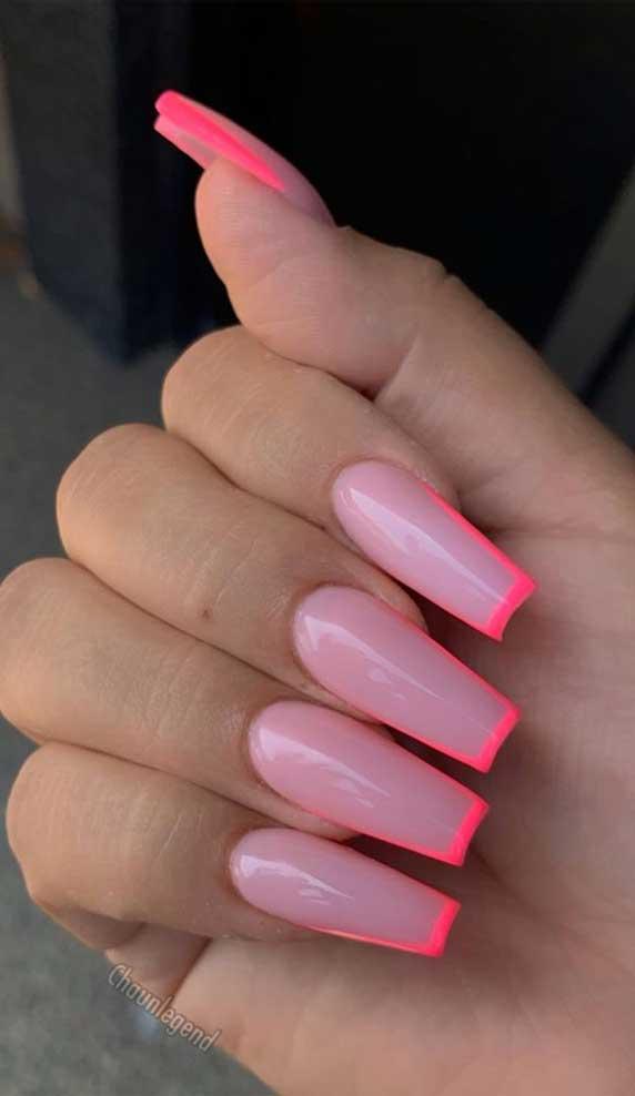#coffinnails nail art , nail designs, long nails, ombre nails, acrylic nail art , acrylic nail designs, best nails 2020, summer nails 2020 #acrylicnails #ombrenails