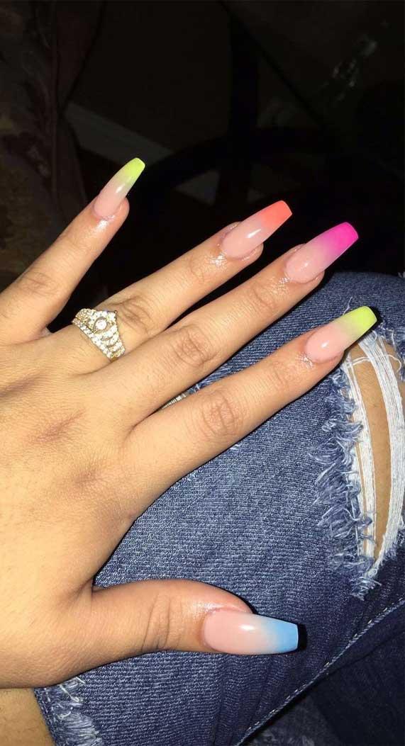 mismatched nail colors #springnails #shortnails2020 colorful nails, spring nails, summer nails, best summer nails 2020, cute summer nails 2019, summer nails 2020, summer nails acrylic, bright summer nails, summer nails coffin, summer nails 2020,short summer nails, summer nail ideas #summernails  pastel nails