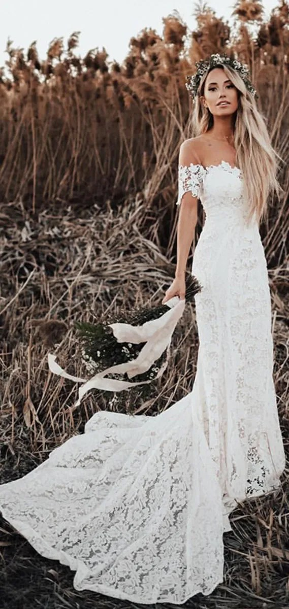 8 Gorgeous Country Style Wedding Dresses #wedding country style wedding dress #weddingdresses  lace wedding dresses, rustic wedding dresses, casual country wedding dresses, high low country wedding dresses, fab wedding dress , cowgirl wedding dresses, rustic wedding dresses with sleeves, lace wedding dress casual western wedding dresses