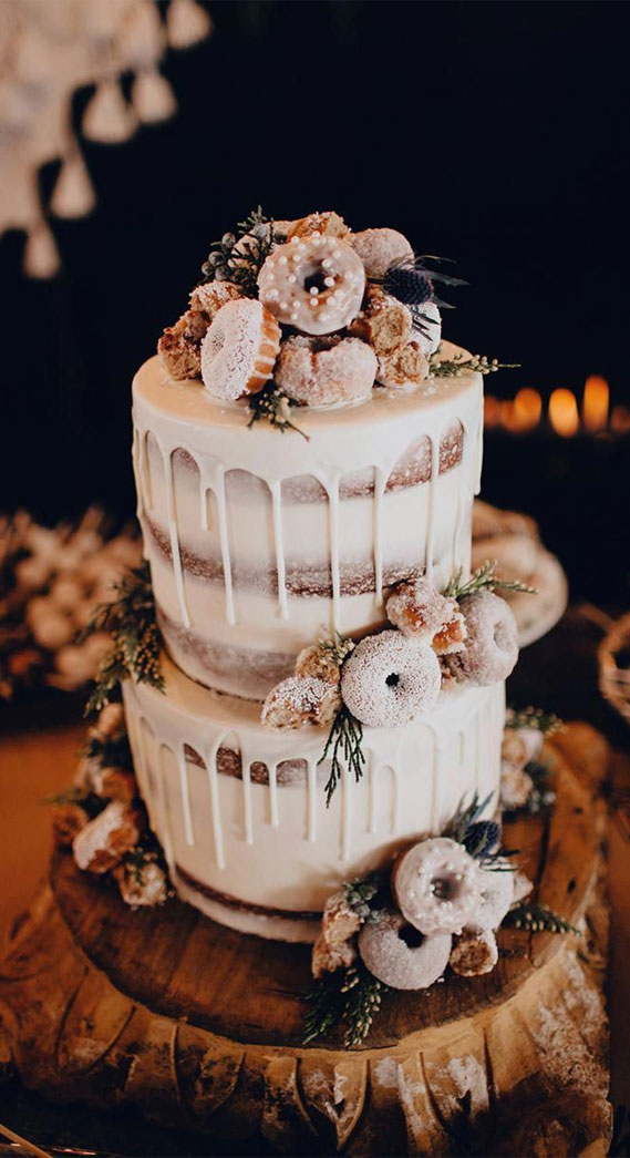 8 Awesome wedding cake with donuts #weddingcake wedding cake with donuts, alternative wedding cake, wedding cake , wedding cake ideas, alternative wedding cakes , wedding cakes 2020 , best wedding cakes 2020, dripped wedding cake