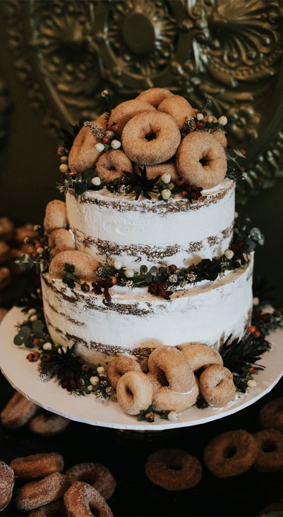 8 Awesome wedding cake with donuts #weddingcake wedding cake with donuts, alternative wedding cake, wedding cake , wedding cake ideas, alternative wedding cakes , wedding cakes 2020 , best wedding cakes 2020, rustic wedding cake