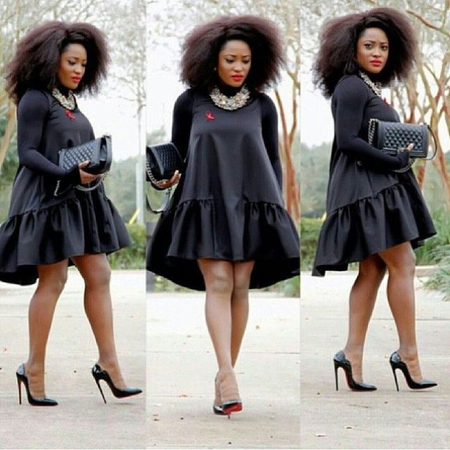 BLACK DRESS 1 - 5 Outfits You Shouldn't Be Caught Wearing To A Wedding Party
