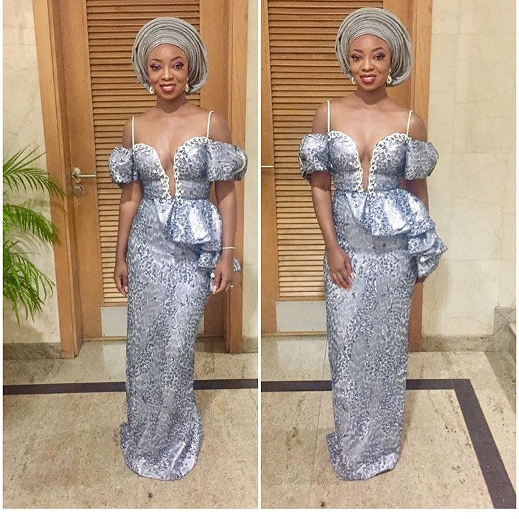 Image result for Silver asoebi