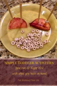 Simple Toddler Activities