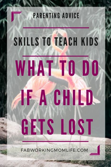 skills to teach kids - what to do if a child gets lost