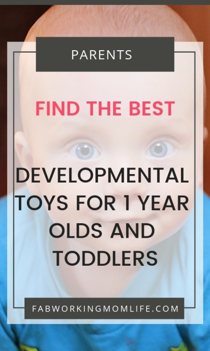 New parents always want to know this - what are the best developmental toys for your baby? Check out these suggestions for the best developmental toys for a 1-year-old and toddlers. | Fab Working Mom Life #parenting #motherhood #baby #development