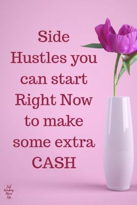 side hustles start now to make extra cash   Fab Working Mom Life