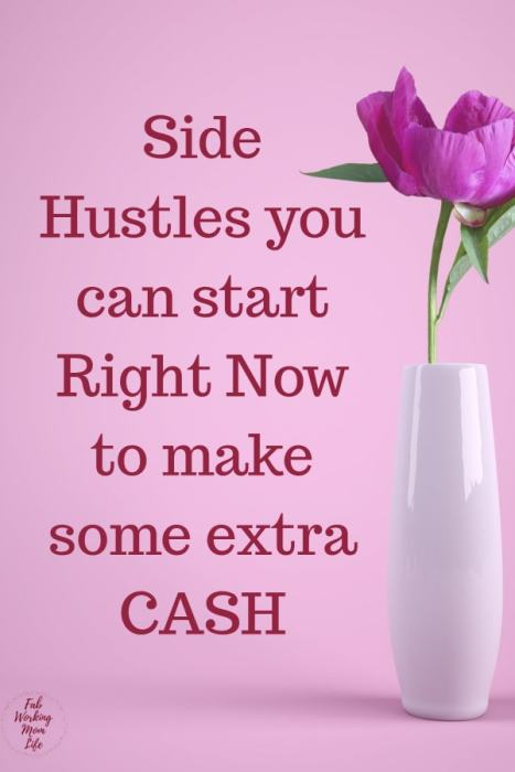 Side hustles you can start right now to make some extra cash! | Fab Working Mom Life #money #budget #sidehustle #cash #finances #workingmom #paycheck