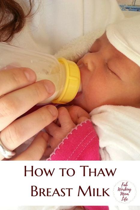 How to Thaw Breast Milk   Thawing Frozen Breastmilk   Breastfeeding Moms   Unfreeze breast milk
