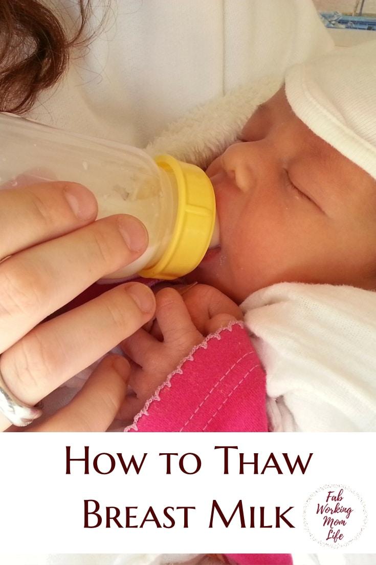 How to Thaw Breast Milk   Thawing Breastmilk   Breastfeeding Moms