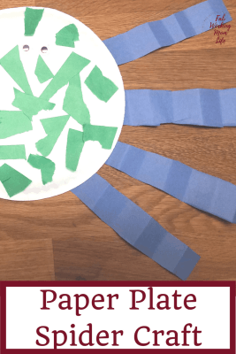 Paper Plate Spider Craft for Toddlers and Preschoolers