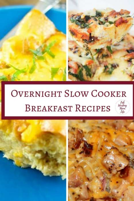 Overnight Slow Cooker Breakfast Recipes | Fab Working Mom Life | #breakfast #brunch #slowcooker #easyrecipes| Overnight Breakfast Bake, Overnight Breakfast Casserole, Mother's day brunch, slow cooker breakfast recipes