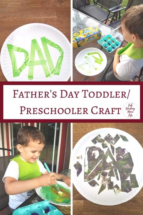 Father's Day Toddler Craft (or how to salvage a craft gone wrong) | Fab Working Mom Life #fathersday #toddlercraft #toddleractivity toddler crafts and activities, preschooler craft ideas, father's day card from children ideas, father's day, make a father's day card with your toddler